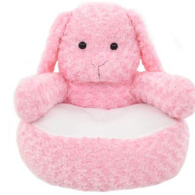 vidaXL Gosedjur kanin plysch rosa