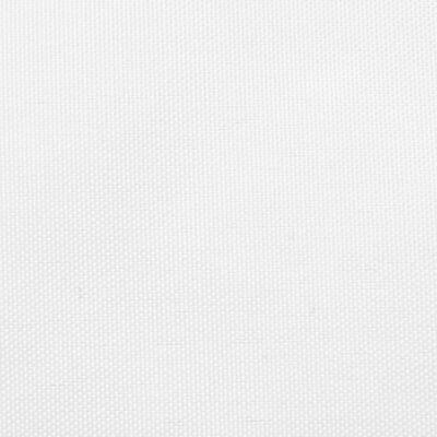 vidaXL Solsegel oxfordtyg fyrkantigt 3x3 m vit,