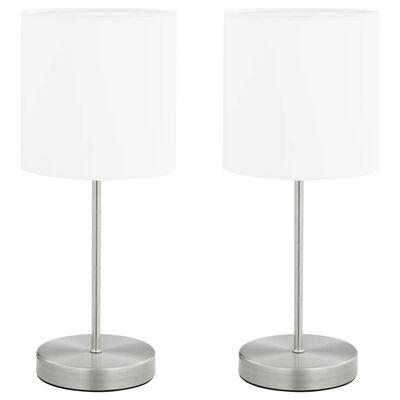 vidaXL Bordslampor 2 st touch-knapp vit E14