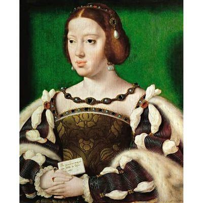 Portrait of Eleonora, Queen of France,Joos van cleve,35.5x29.5cm