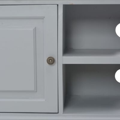vidaXL TV-bänk grå 90x30x40 cm trä