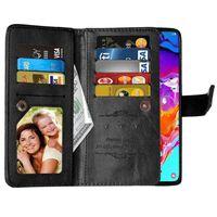 Dubbelflip Flexi 9-kort Samsung Galaxy A70 (SM-A705F) Svart