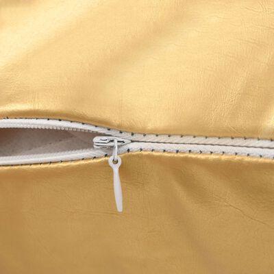 vidaXL Kudde 2 st PU 45x45 cm guld