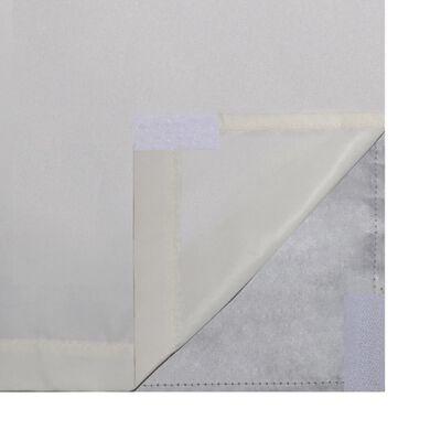 vidaXL Mörkläggningsgardiner 2 st dubbla lager 140x175 cm gräddvit