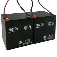 Reservbatterier för elsparkcyklar 2 st 12V 4,5Ah