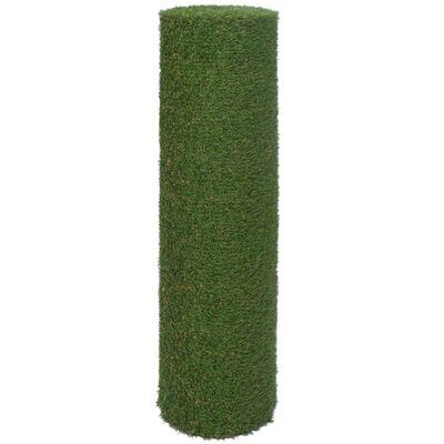 vidaXL Konstgräsmatta 1,33x5 m/20 mm grön