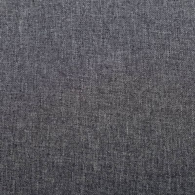 vidaXL Fåtölj och fotpall 2 delar mörkgrå tyg