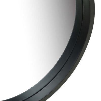 vidaXL Väggspegel med rem 50 cm svart