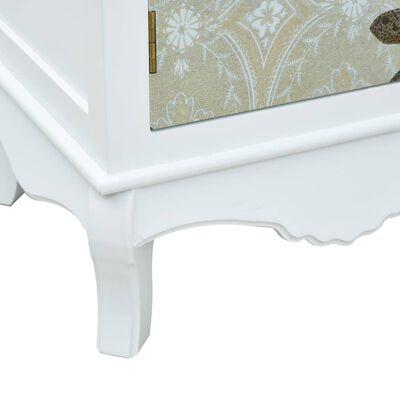 vidaXL Nattduksbord vit och grå 40x30x62 cm MDF