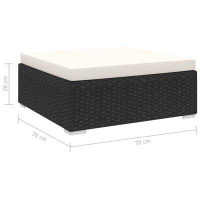 vidaXL Fotpall till modulsoffa 1 st med dyna konstrotting svart