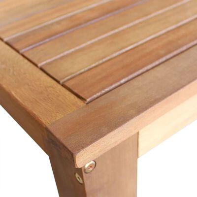 vidaXL Barbord med barstolar 3 delar massivt akaciaträ