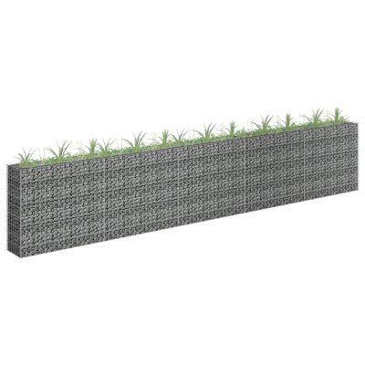vidaXL Planteringsgabion upphöjd galvaniserat stål 450x30x90 cm