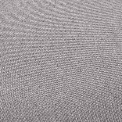 vidaXL Barstolar 2 st ljusgrå tyg