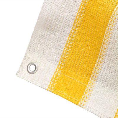 vidaXL Balkongskärm HDPE 75x600 cm gul och vit