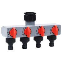 vidaXL Automatisk bevattningstimer 4-vägsventil
