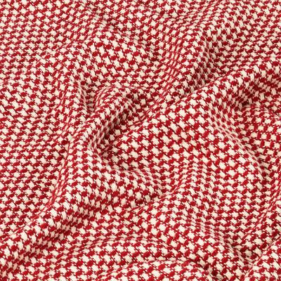 vidaXL Filt bomull 160x210 cm röd