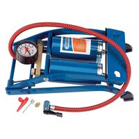 Draper Tools Fotdriven luftpump dubbla cylindrar blå 25996