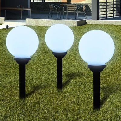 vidaXL Utomhuslampor 6 st LED 20 cm med markspett