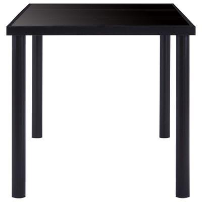 vidaXL Matbord svart 200x100x75 cm härdat glas