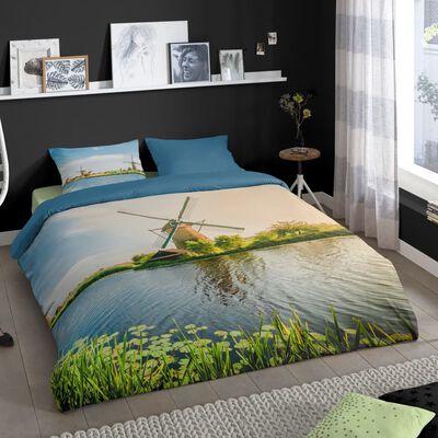 Good Morning Bäddset WINDMILL 155x220 cm flerfärgat