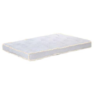 vidaXL Dyna till pallsoffa grå 120x80x10 cm