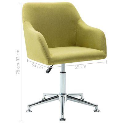 vidaXL Snurrbar matstol grön tyg