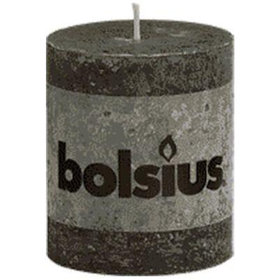 Bolsius Blockljus 80x68 mm antracit 6-pack