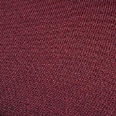 vidaXL 2-sitssoffa vinröd tyg