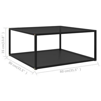 vidaXL Soffbord svart 80x80x35 cm härdat glas