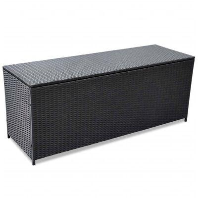 vidaXL Dynbox 120x50x60 cm konstrotting svart