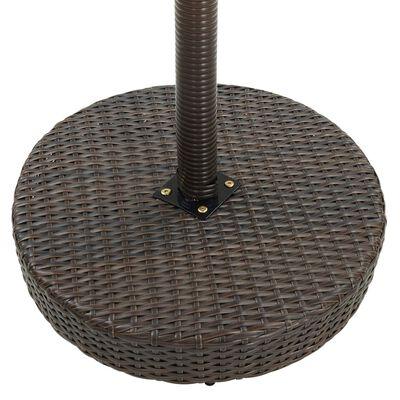 vidaXL Bargrupp för trädgården 5 delar konstrotting brun