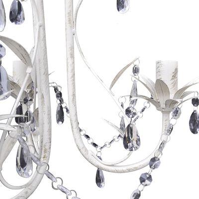 vidaXL Takkrona kristall och vit