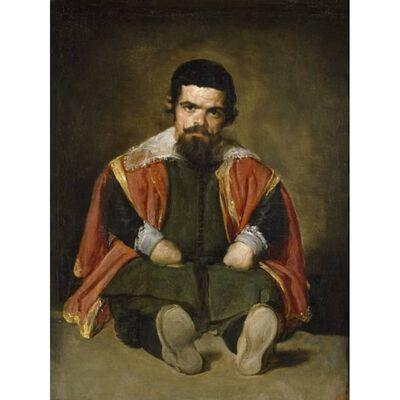 A Dwarf Sitting on the Floor,Diego Velazquez,50x37cm
