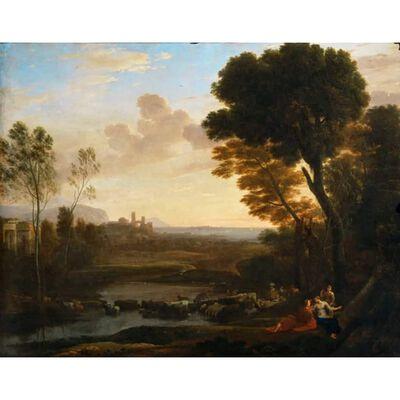 Paysage avec Paris et Oenone,dit Le gue,Claude Lorrain,50x40cm