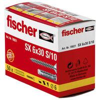 Fischer Expansionsplugg med skruvar 6 x 30 SX 50 st