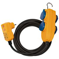 Brennenstuhl RCD 4-vägs skyddad kabel med powerblock 10 m svart