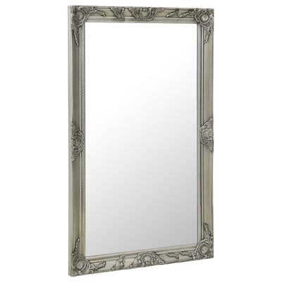 vidaXL Väggspegel barockstil 60x100 cm silver