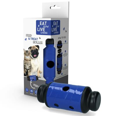 EAT SLOWER LE LONGER Aktiveringsmatskål Feed & Treat blå S