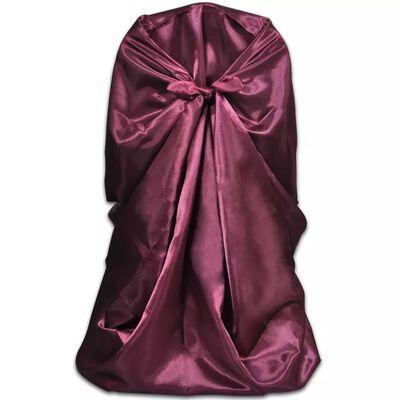 Stolsklädsel till bröllopsmiddag 6 st Burgundy, Burgundy