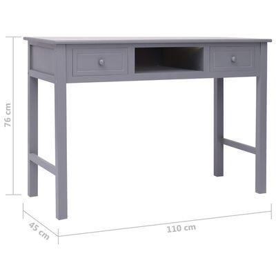 vidaXL Skrivbord grå 110x45x76 cm trä