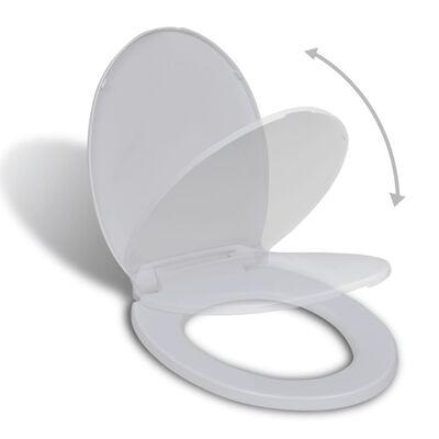 vidaXL Toalettsits mjuk stängning oval vit