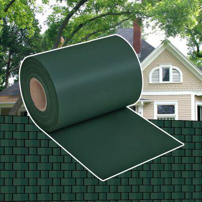 vidaXL Insynsskydd för trädgården PVC 70x0,19 m grön
