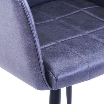 vidaXL Matstolar 2 st grå konstmocka