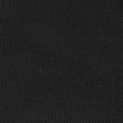 vidaXL Solsegel Oxfordtyg trekantigt 5x5x5 m svart