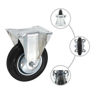 vidaXL Fasta hjul 8 st 160 mm