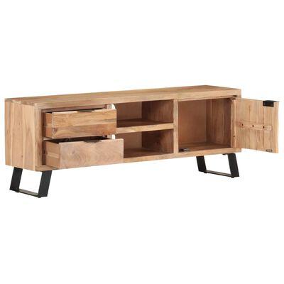 vidaXL TV-bänk 120x30x42 cm massivt akaciaträ med levande kant