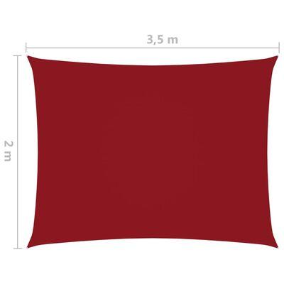 vidaXL Solsegel oxfordtyg rektangulärt 2x3,5 m röd