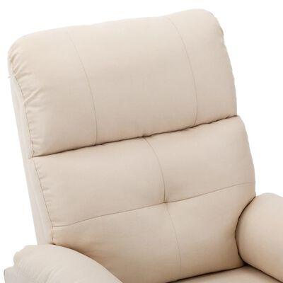 vidaXL Elektrisk reclinerfåtölj gräddvit tyg