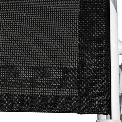 vidaXL Stapelbara trädgårdsstolar 6 st stål och textilene svart