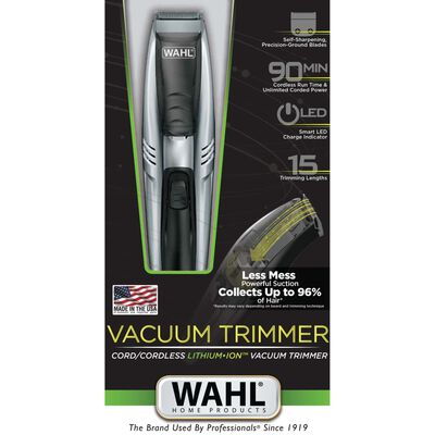 Wahl Skäggtrimmer Vacuum Trimmer 15 delar 6W